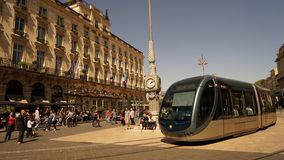 Bordeaux de Frances de tram photographie stock