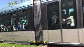 Bordeaux de tramway banque de vidéos