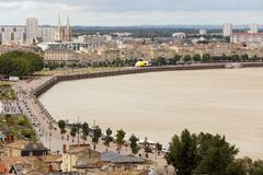 Bordeaux dockside Royalty Free Stock Photography