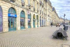 Bordeaux. Embankment of the river Garonne Stock Photos