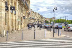 Bordeaux. Embankment of the river Garonne Royalty Free Stock Image