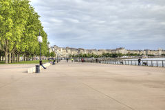 Bordeaux. Embankment of the river Garonne Royalty Free Stock Image