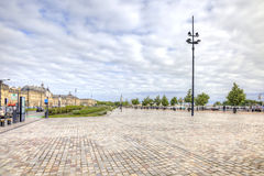 Bordeaux. Embankment of the river Garonne Royalty Free Stock Photo