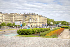 Bordeaux. Embankment of the river Garonne Royalty Free Stock Photos