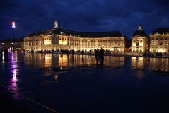 Bordeaux entro la notte Fotografia Stock Libera da Diritti