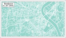 Bordeaux France City Map in Retro Style. Royalty Free Stock Image