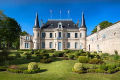 BORDEAUX, FRANCE -  MAY 2014: Chateau Palmer - one of the most f Stock Photos