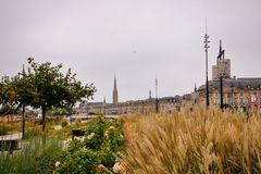 Cityscape of Bordeaux Royalty Free Stock Photos