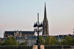 Saint andrew cathedral at Bordeaux Royalty Free Stock Photo