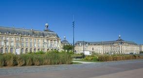 BORDEAUX, FRANCIA - 6 SETTEMBRE 2015: Palais de la Bourse è nel centro del Bordeaux, l'Aquitania, Francia, settembre 2015 Fotografia Stock