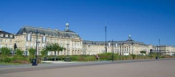 BORDEAUX, FRANCIA - 6 SETTEMBRE 2015: Palais de la Bourse nel centro del Bordeaux, l'Aquitania, Francia, settembre 2015 Fotografia Stock
