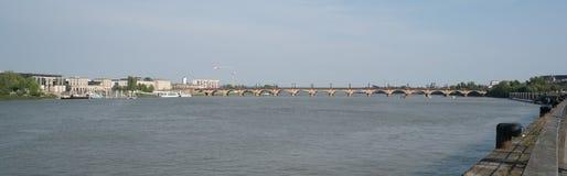 Bordeaux, Frankreich, 8 kann 2018 - überbrücken Sie ` ` Pont de Pierre Überfahrt lizenzfreies stockfoto