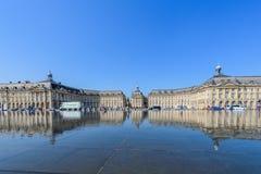 BORDEAUX, FRANKREICH - 18. MAI 2018: Ansicht über das Austausch-Quadrat Kopieren Sie Raum für Text stockfotos