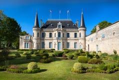 BORDEAUX, FRANKRIJK - MEI 2014: Chateau Palmer - één van meeste F Stock Foto's