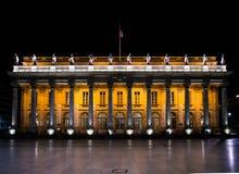 Bordeaux Frankrike, 8 kan 2018 - den storslagna operahus`-tusen dollar Thé arkivfoton
