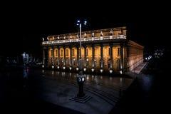 Bordeaux Frankrike, 10 kan 2018 - den storslagna operahus`-tusen dollar Thé arkivbild