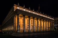 Bordeaux Frankrike, 10 kan 2018 - den storslagna operahus`-tusen dollar Thé Royaltyfri Fotografi