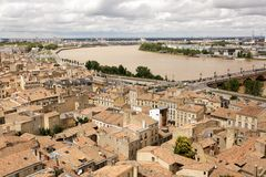 Bordeaux and Garonne river Royalty Free Stock Image