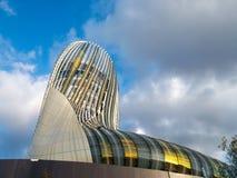 BORDEAUX, GIRONDE/FRANCE - 18 SEPTEMBER: Mening van La Cite du Vin Royalty-vrije Stock Foto