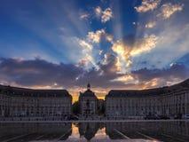 BORDEAUX, GIRONDE/FRANCE - SEPTEMBER 20 : Miroir d'Eau at Place Royalty Free Stock Photography