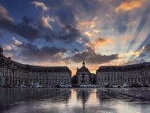 BORDEAUX, GIRONDE/FRANCE - SEPTEMBER 20 : Miroir d'Eau at Place Stock Photos