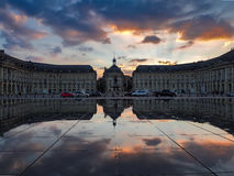 BORDEAUX, GIRONDE/FRANCE - SEPTEMBER 20 : Miroir d'Eau at Place Royalty Free Stock Images