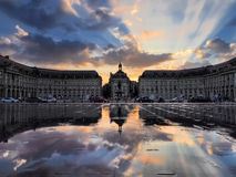 BORDEAUX, GIRONDE/FRANCE - SEPTEMBER 20 : Miroir d'Eau at Place Royalty Free Stock Photo