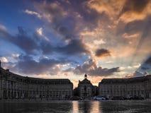 BORDEAUX, GIRONDE/FRANCE - SEPTEMBER 20 : Miroir d'Eau at Place Royalty Free Stock Photos