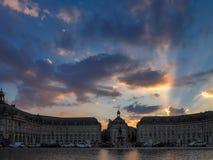 BORDEAUX, GIRONDE/FRANCE - SEPTEMBER 20 : Miroir d'Eau at Place Stock Photo