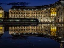 BORDEAUX, GIRONDE/FRANCE - SEPTEMBER 20 : Miroir d'Eau at Place Stock Photography