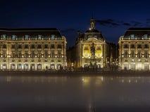 BORDEAUX, GIRONDE/FRANCE - SEPTEMBER 20 : Miroir d'Eau at Place Stock Image