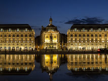BORDEAUX, GIRONDE/FRANCE - SEPTEMBER 20 : Miroir d'Eau at Place Royalty Free Stock Photos