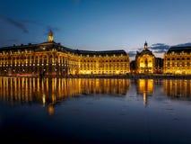 BORDEAUX, GIRONDE/FRANCE - SEPTEMBER 20 : Miroir d'Eau at Place Stock Images