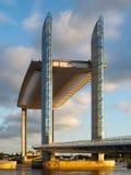 BORDEAUX GIRONDE/FRANCE - SEPTEMBER 18: Ny elevatorbro Jacque Arkivfoton