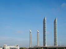 BORDEAUX GIRONDE/FRANCE - SEPTEMBER 19: Ny elevatorbro Jacque Arkivfoto