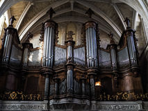 BORDEAUX, GIRONDE/FRANCE - SEPTEMBER 20 : Organ in the Cathedral Royalty Free Stock Image