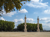 BORDEAUX, GIRONDE/FRANCE - SEPTEMBER 19 : Statues Bordering the. Esplanade des Quinconces in Bordeaux on September 19, 2016 Royalty Free Stock Photos