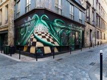 BORDEAUX, GIRONDE/FRANCE - 21 SEPTEMBRE : Graff de construction peint Photographie stock libre de droits