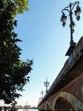 BORDEAUX, GIRONDE/FRANCE - 21 SEPTEMBRE : Pont de Pierre (Peter Photographie stock
