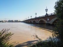 BORDEAUX, GIRONDE/FRANCE - 21 SEPTEMBRE : Pont de Pierre (Peter Photo stock