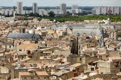 Bordeaux modern and old city. View on Bordeaux ancient and modern architecture, France Royalty Free Stock Image