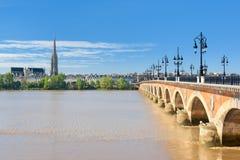 Bordeaux på en solig dag Royaltyfri Bild
