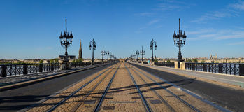 Bordeaux panorama of the bridge Stock Photo