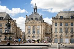Bordeaux - Place de la Bourse france Photo stock