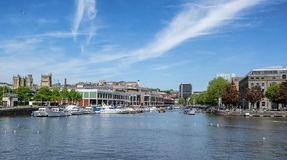 Bordeaux Quay on the floating harbour royalty free stock images