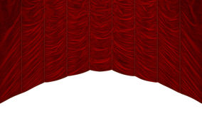 Bordeaux Red Curtain isolated Royalty Free Stock Images