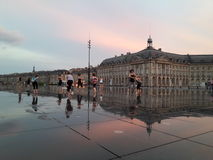 Bordeaux reflected Royalty Free Stock Photography