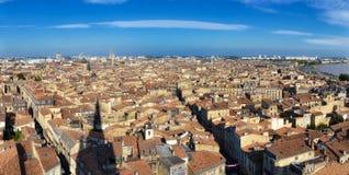 Bordeaux stadspanorama från torn för St Michel Royaltyfria Bilder