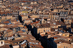 Bordeaux streets roof top view stock photography