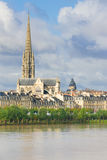 Bordeaux at a summer cloudy day Royalty Free Stock Images